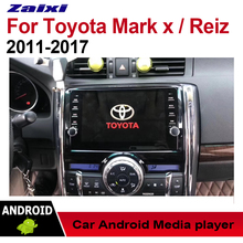 ZaiXi Android Car Multimedia Player GPS Audio Radio Stereo For Toyota Reiz Mark X 2011~2017 Original Style Navigation NAVI BT цена