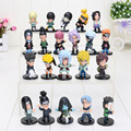 Naruto 1set 2.3inch Naruto kakashi sasuke xiao earners model doll Naruto Kaka Xizuo full 21pcs/set paragraph Value Pack