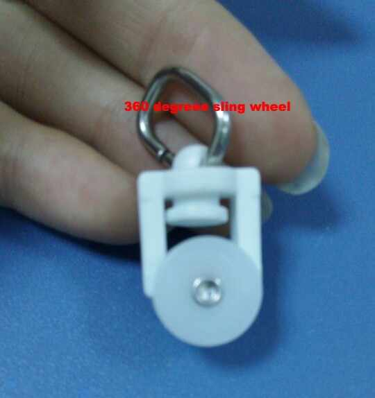 Durable  Super quiet 360 Degree Curtain pulley roller window tracks wheels and curtain runner for electrical curtains poles