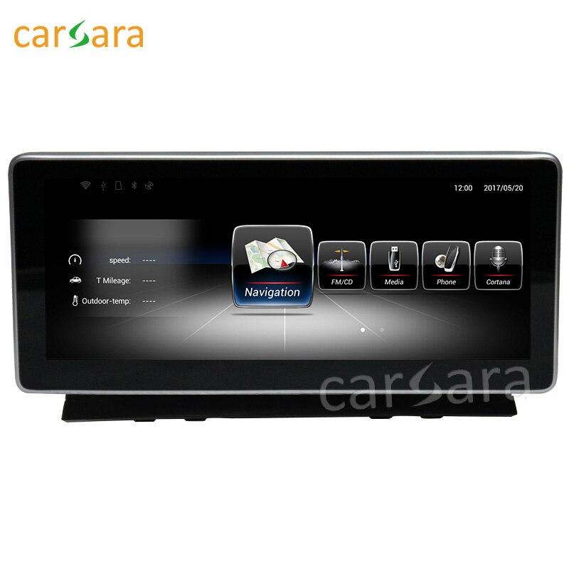 Carsara android дисплей для Benz C Class W204 2008 до 2010 10.25 сенсорный экран GPS навигация Стерео Радио мультимедийный плеер