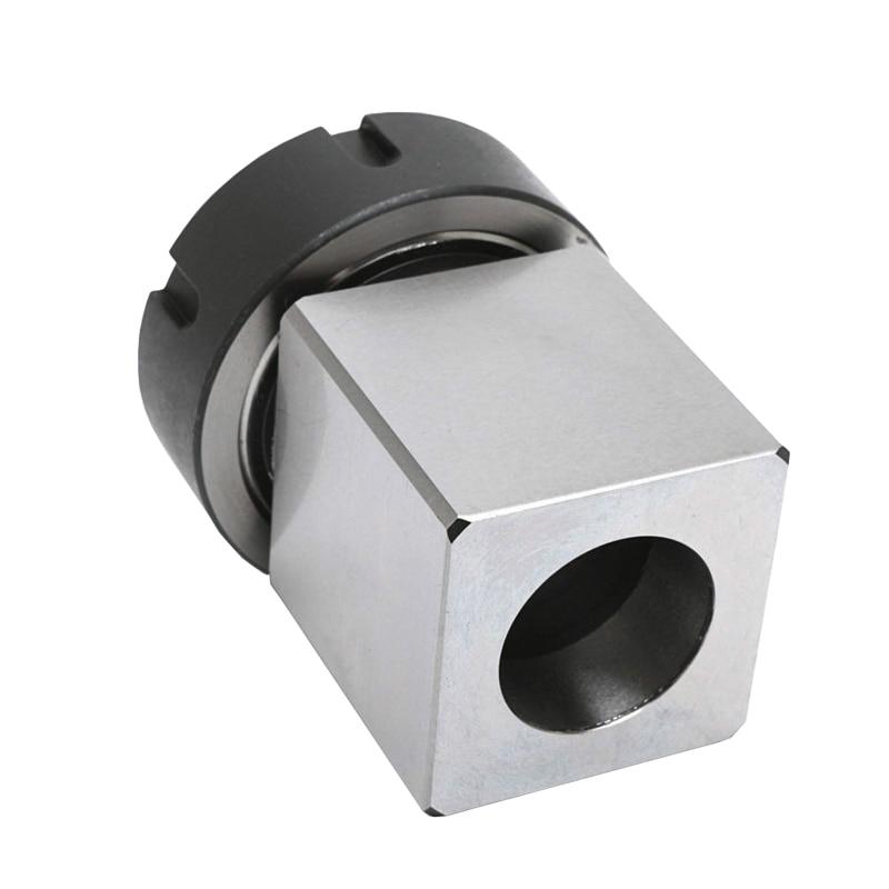 Free shipping 1PCS ER40 ER32 ER25 Square Collet Chuck Holder Block Block Holder For CNC Lathe Engraving Machine Cross Hole Drill