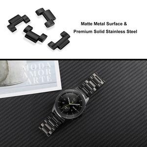 Image 5 - Zero Gap correa de reloj de acero inoxidable curvado + removedor de eslabones para Samsung Galaxy Watch 42mm SM R810/SM R815, pulsera de correa de muñeca