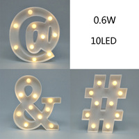 3D Plaque Plate LED Night Light Marquee Sign Alphabet Lamp For Birthday Wedding Party Bedroom Wall Hanging Decoration