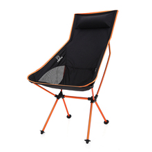 Portable Folding Chair Beach Chair Built-in Pillow with Carry Bag for Outdoor Camping Picnic BBQ Fishing Tools