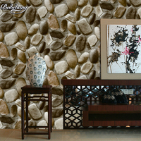 beibehang 3D Stereo Simulation Pebble Wallpaper Back to nature Natural Culture Stone Foot Bath Chinese Restaurant Wallpaper