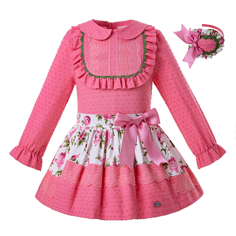 Pettigirl Baby Girls Clothing Sets Summer Embroidery Top Shorts Kids Baby Outfit Suit Casual Wear Child