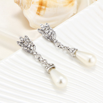 European and American Pearl crystal temperament jewelry Set 6