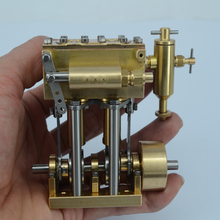 Vertical two-cylinder reciprocating steam engine model * steam ship engine все цены
