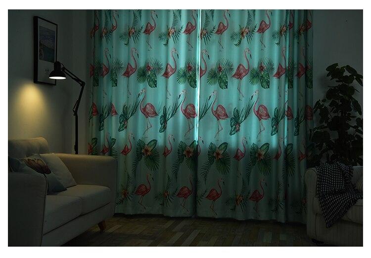 Enkele panelen groene d gordijnen woonkamer raamdecoratie nordic