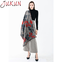 Women Scarf Winter Scarves Wrap Shawl Thick Womens Warm Cashmere Wool Blended Knit  Leopard Camouflage Soft