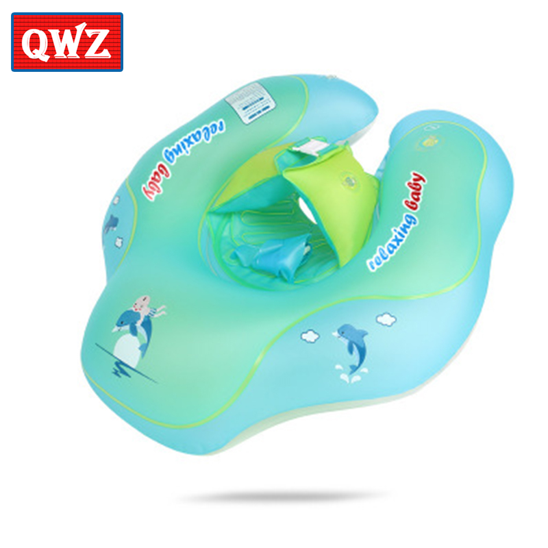QWZ Baby Inflatable Swimming Ring Infant Armpit Floating Kids Swim Pool Accessories Circle Bathing Inflatable Toys for kids