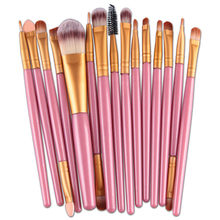 So Hot Make-Up Pinsel Set 15 teile/los Lidschatten Foundation Augenbrauen Lip Pinsel Pro Schönheit Kosmetik Werkzeug Make-Up Pinsel kit(China)