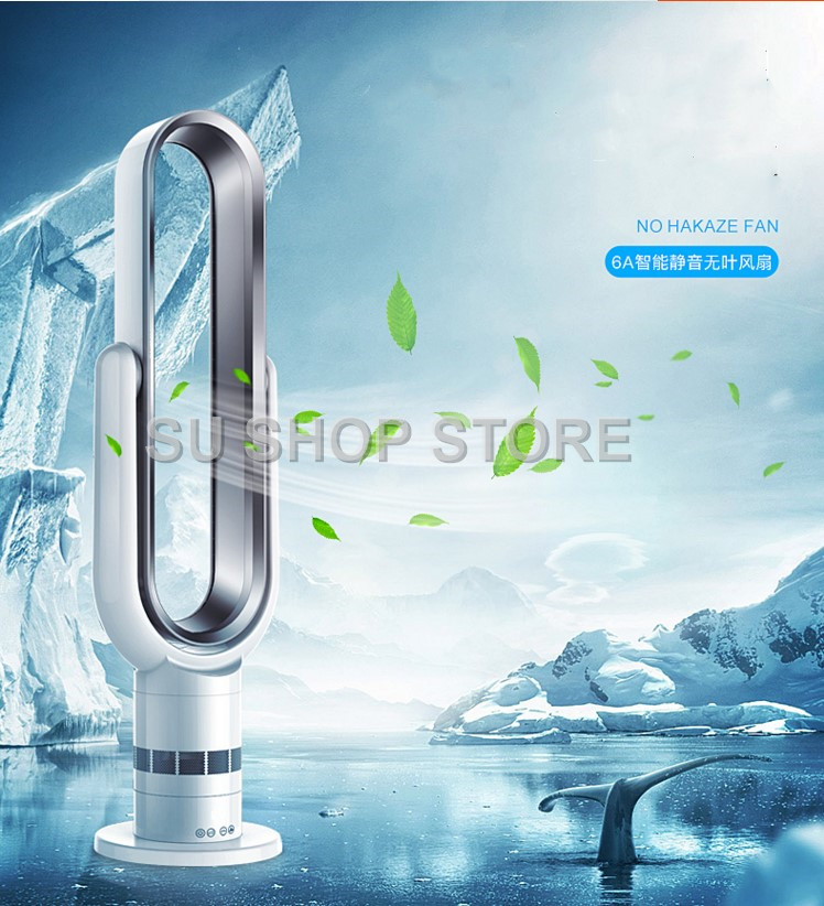 Newest Remote Control Bladeless Cooling Fan 220V Ultra-quiet Electric Fan Air Purifier Top Quality Appointment 1-9H