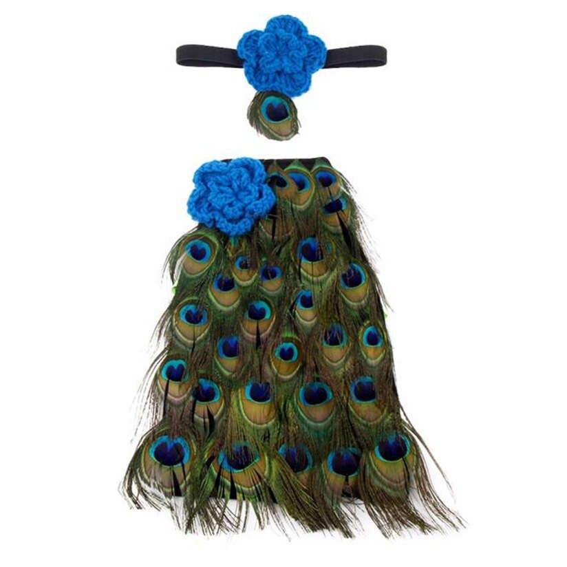 ROMIRUS-Newborn-Baby-Girls-Boys-Costume-Photo-Photography-Prop-Outfits-Princess-Skirt-Handmade-Crochet-Beaded-Cap-Headband-M3-2