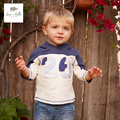 DB4523 dave bella spring baby boys hooded t-shirt stylish t shirt fashion tees tops