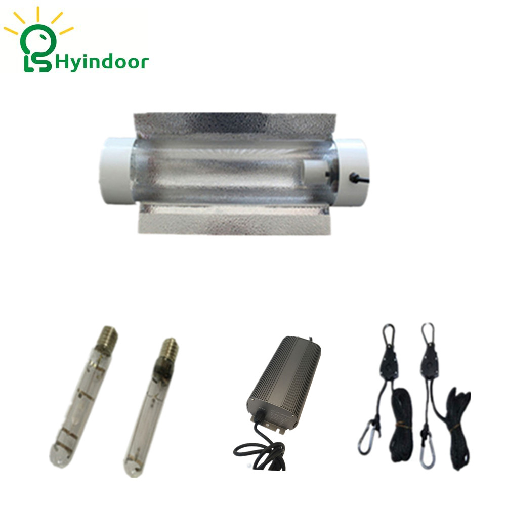 250W Grow Lights System with Cool Tube Reflector Lamp Covers Shades for Indoor Garden 250w grow light kits with adjustable a wing reflector