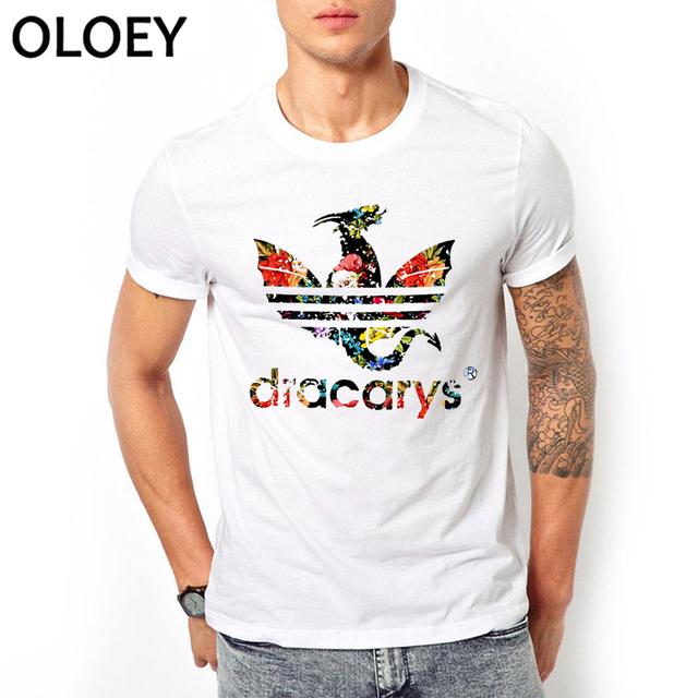 Dracarys Men T Shirts Game of Thrones Daenerys T-Shirt Mother of Dragon Khaleesi Harajuku Vintage Camisetas Aesthetic Clothes