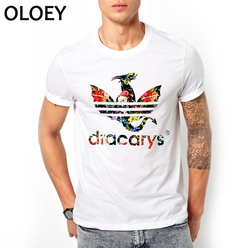 Dracarys Men   T     Shirts   Game of Thrones Daenerys   T  -  Shirt   Mother of Dragon Khaleesi Harajuku Vintage Camisetas Aesthetic Clothes
