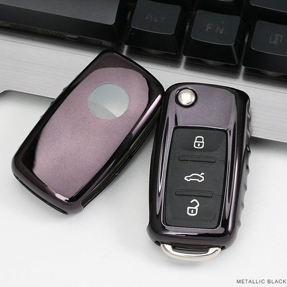 TPU Car key Cover Case Car Key Bag Fit for VW Volkswagen Skoda Golf7 Polo Tiguan Passat Jetta MK5 MK6 T5 Beetle Accessories 2017
