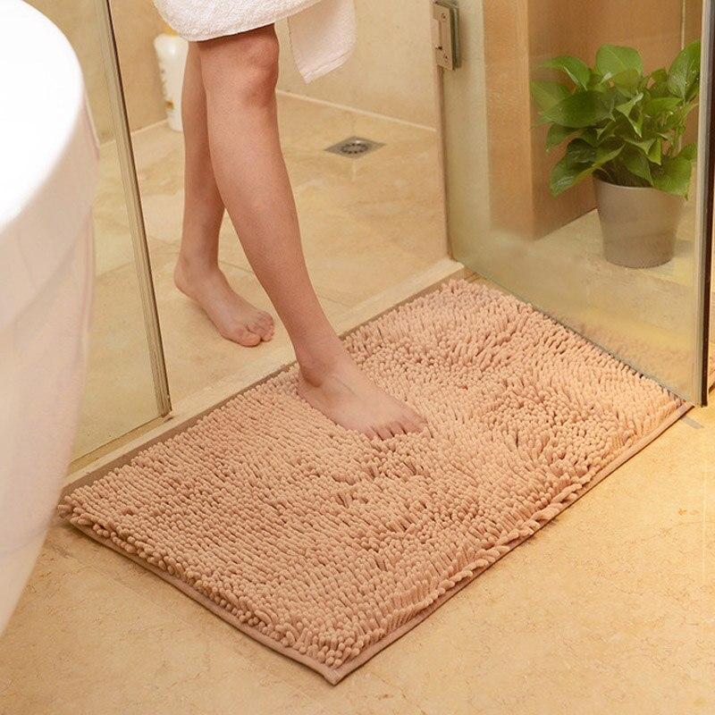 Chenille chambre cuisine salon tapis microfibre salle de bain porte tapis anti-dérapant tapis de sol FC0080
