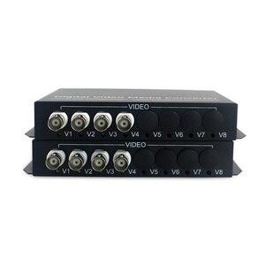 Image 2 - 4 ch וידאו עם RS485/RJ45 Ethernet משדר ומקלט 4 ערוץ סיב אופטי media converter FC 20 KM