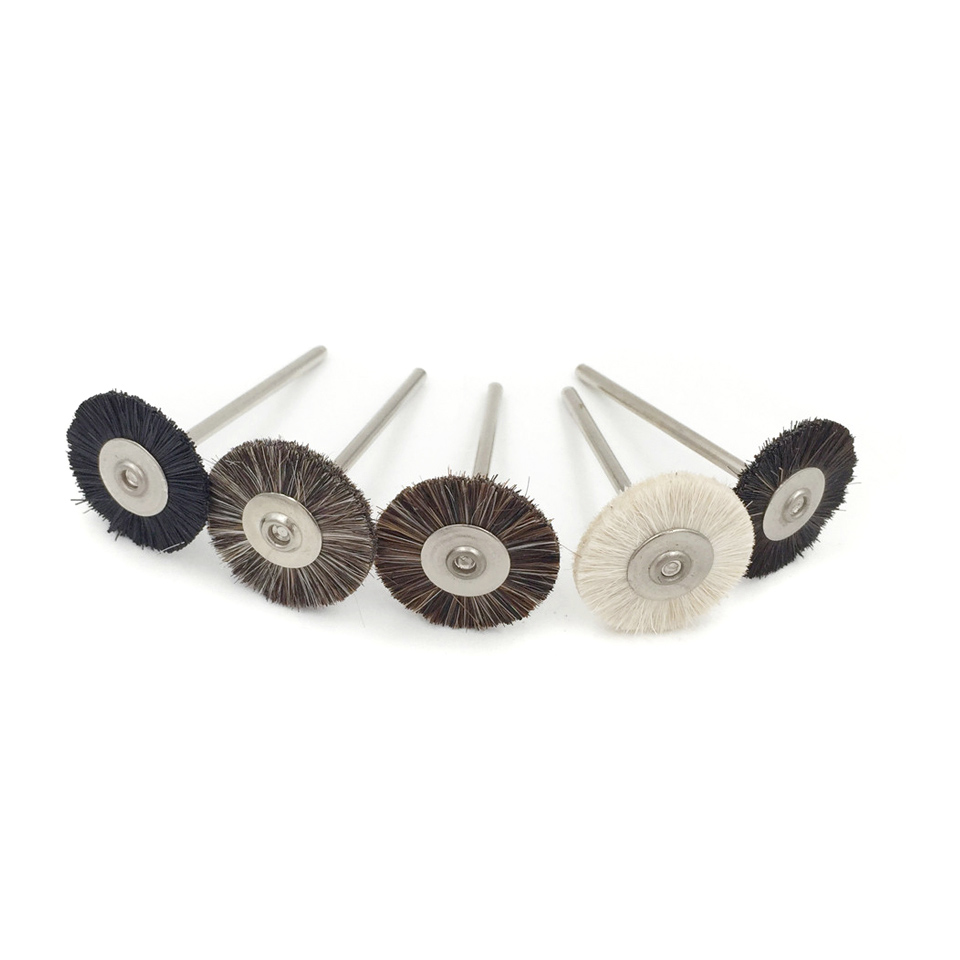 10pcs Polishing Brush Wheel Abrasive Tools 2.35mm Shank Rotary Tools Abrasive Disc Grinding Wheels For Dremel Accessories Tools