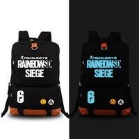 2017 nueva llegada juego Tom Clancy's Rainbow Six siege letras impresión mochila Mochilas y bolsas para el colegio mochila portátil Militar bolsa