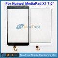 """7.0 """"para huawei honor x1 mediapad x1 7d-501u 7d-501l 7d-503l digitador do painel frontal da tela de toque sensor de cor preto branco"""