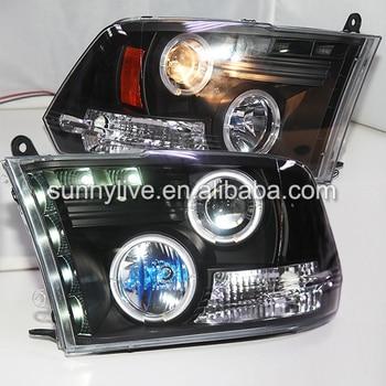 For Dodge Ram RAM PICK UP 1500  2500 3500 LED Headlight Angel Eyes 2009-2012 Year SN