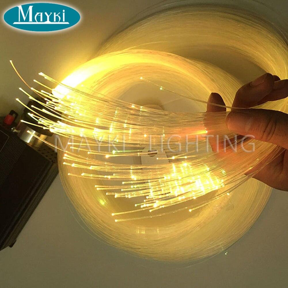 Mayki 700m Length Diameter 1.5mm Transparent End Lit Fiber Optic Cable Travaling Light for Desk Bar Hotel Decoration