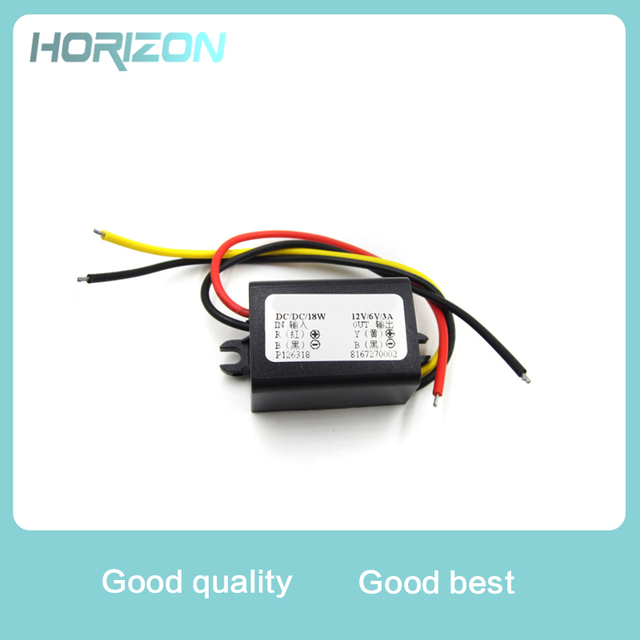 DC/DC Converter 12V Step Down To 6V 18W Max 3A Power Supply Waterproof