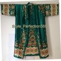 Бесплатная Доставка Горячей Продажи дамская Шелковый Район Кимоно Hand-Made Окрашенные Kaftan Robe Платье Цветок NS05