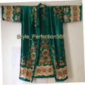 Free Shipping Hot Sale Lady's Silk Rayon Kimono Hand-Made Painted Kaftan Robe Gown Flower NS05