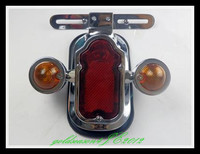 Chrome Tombstone Assembly Tail Light w/ Turn Signal for Harley Chopper Bobber