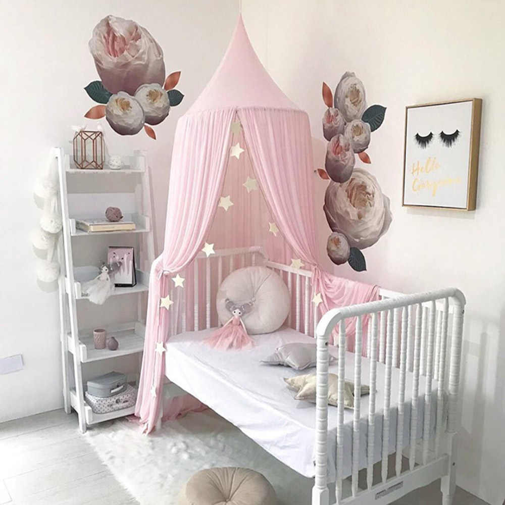 - Round Baby Bed Canopy Net Children Bed Curtains Play Tent House