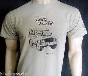 LAND ROVER Series III V8 T-SHIRT - Olive Green or Khaki