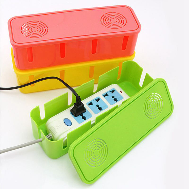 Power Strip Cord Socket Storage Boxes Safety Socket Outlet Board Container Cables Electric Wire Case Accessories Home supplies