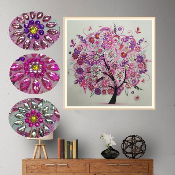 eTya 5D DIY Diamond Embroidery Four Season Flower Trees