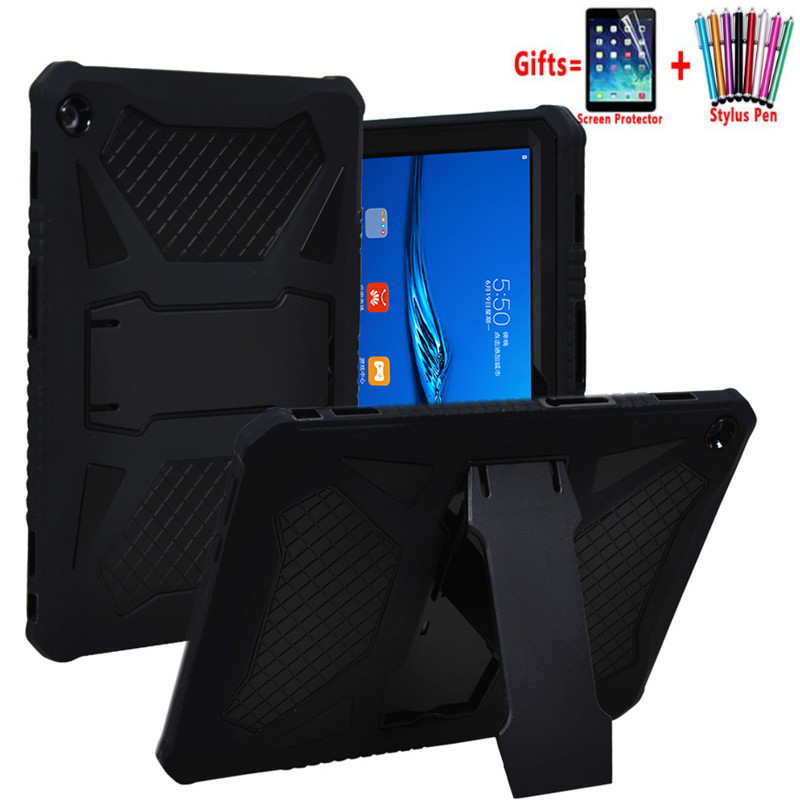 PC And Silicon Cover For Mediapad T5 10 AGS2-W09/L09/L03/W19 10.1'' Heavy Duty Armor Case For Huawei Mediapad T5 10 Funda + Flim