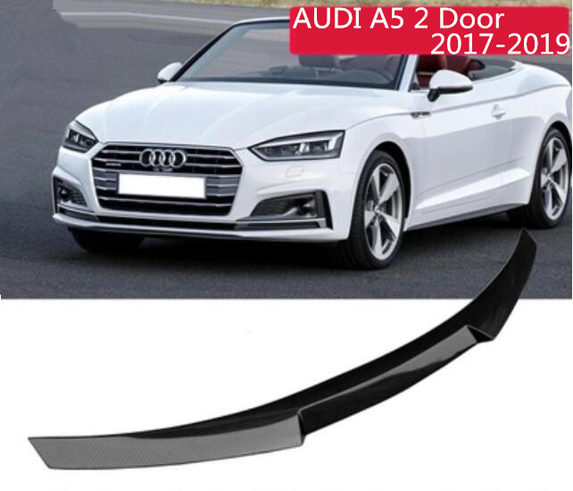 Carbon Fiber Car Rear Wing Trunk Lip Spoilers For AUDI A5 S5 RS5 2017 2018 2019 (Only For 2 Doors Audi A5 2017-2019) image