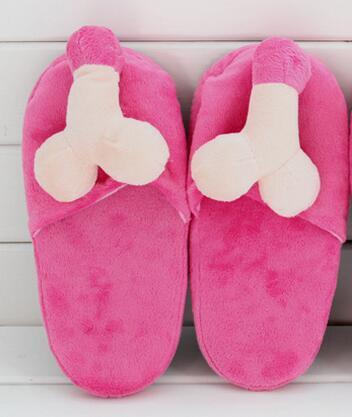 Кэндис Го плюшевая игрушка мягкая кукла взрослая грудь bubby mamma пенис гениталий форма диван подушка тапочки Забавный подарок на день рождения - Цвет: girl slipper