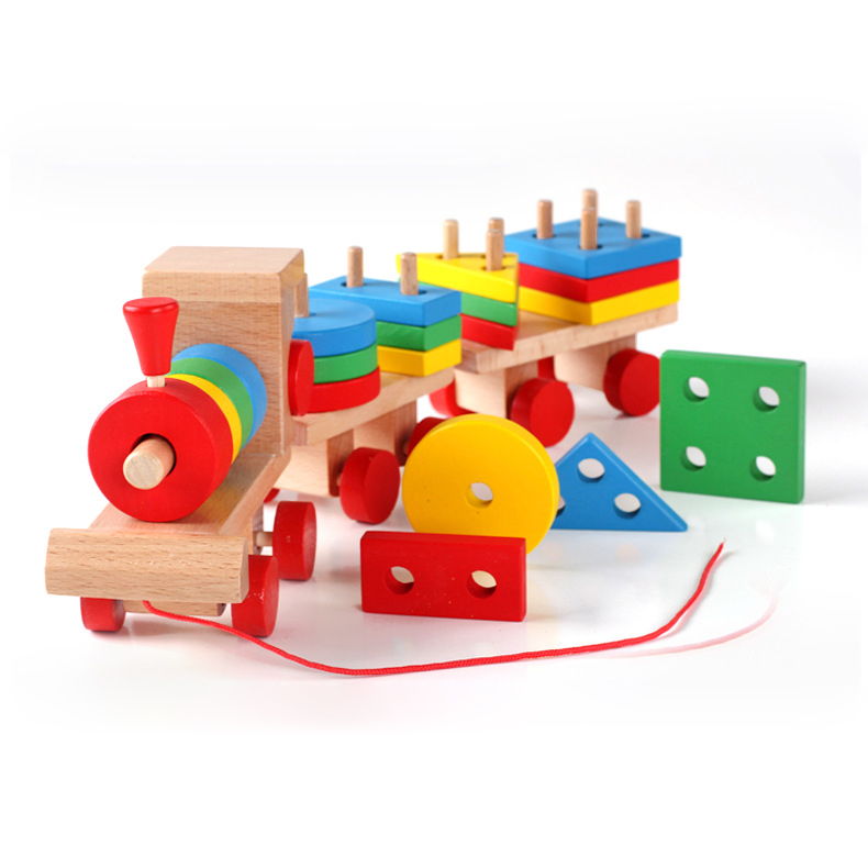 Chanycore Baby Learning Educational Wooden Toys Geometric ...