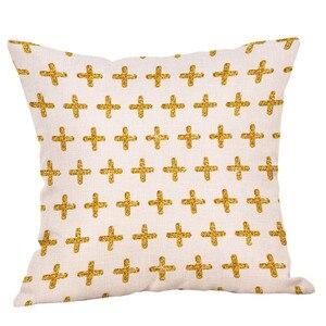 Image 3 - Pamuk keten kare ev dekoratif atmak yastık kılıfı kanepe bel yastığı kapak Dropshipping atmak yastık örtüsü yastık kılıfı