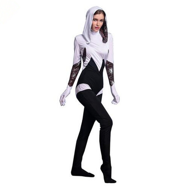 adogirl spiderman halloween costume spider jumpsuit show shooting clothes for women dance parties cosplays