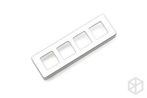 Image 5 - xd004 xiudi 4% Custom Mechanical Keyboard 4 keys switch leds PCB programmed hot swappable macro key silver case micro port