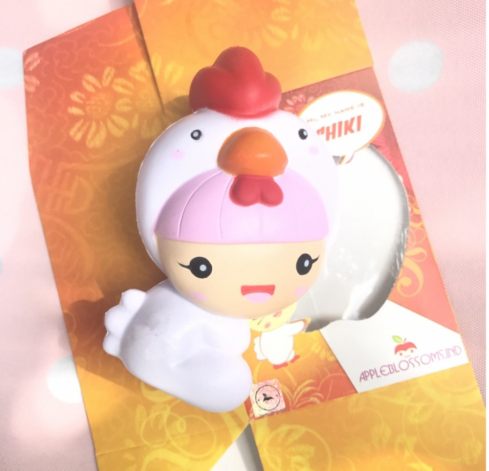Squishy Fun Baby Chicken : 2017 New Kawaii Squishy Chick Chicken Hat Baby Slow Rising Cute Phone Straps Retail Packaging ...