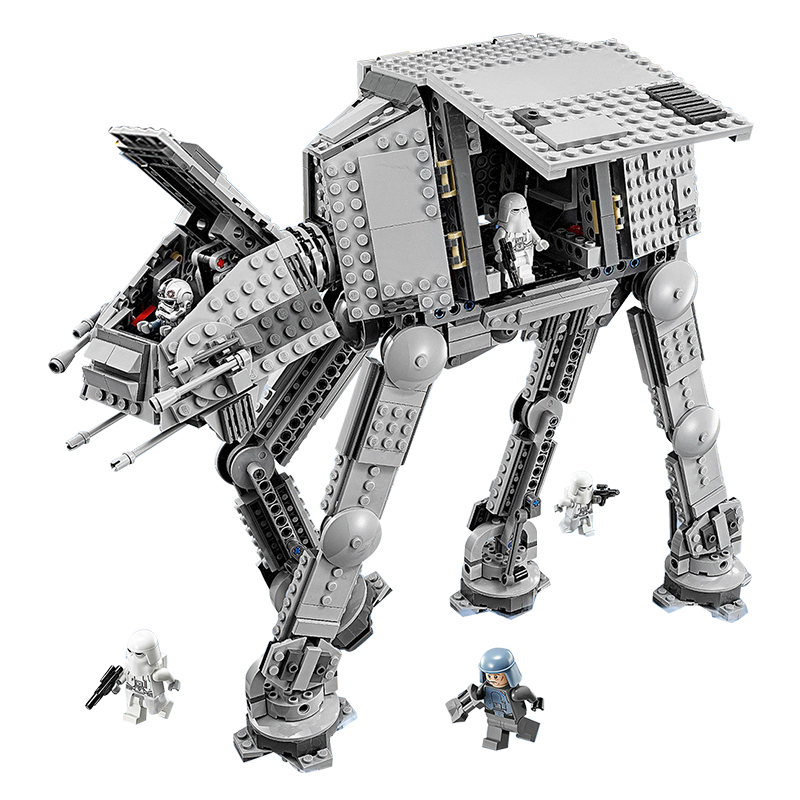 Lepin 05051 Star Series War Force Toys Awaken The AT Model AT Transportation Armored Robot 75054 Building Blocks Bricks Toy rollercoasters the war of the worlds