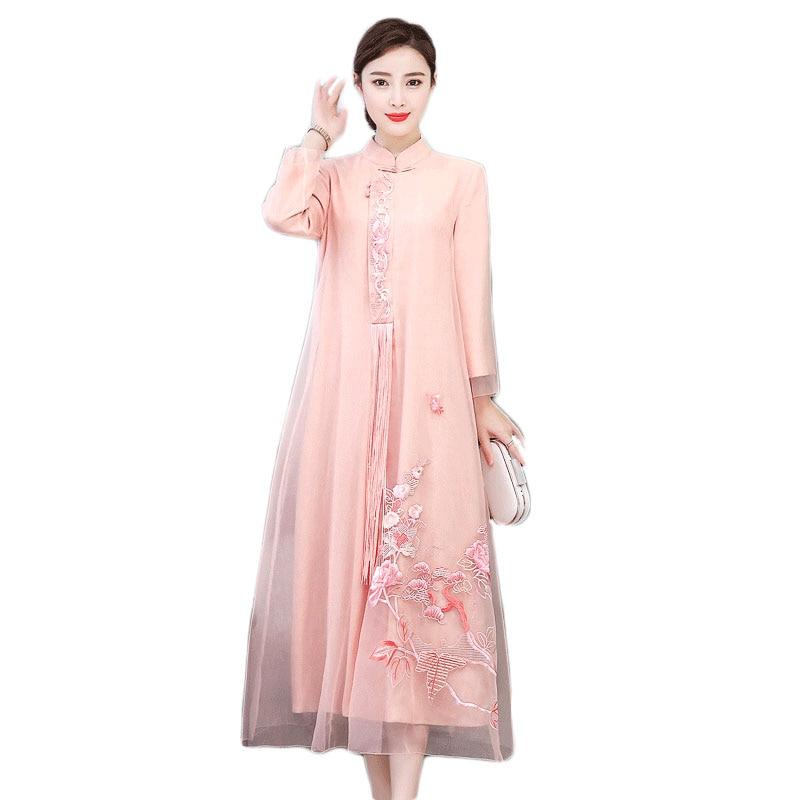 2019 verano vestido chino chica vestido de dama de honor vestidos de fiesta boda mejorado las mujeres qipao cheongsam elegante baile de graduación vestidos - 5