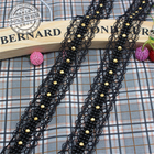 5Yards Black Beaded ...