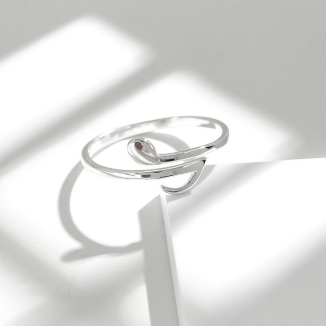 925 Sterling Silver Original Handmade Temperament Music Note Rings